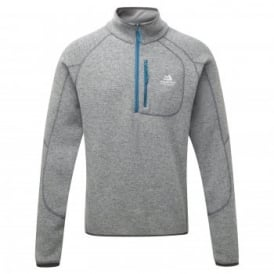 Mens Chamonix Zip Fleece Top Steel Grey