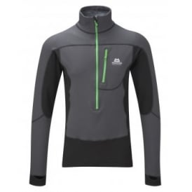 Mens Eclipse Zip Fleece Top Shadow Grey