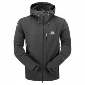 Mens Frontier Softshell Hooded Jacket Raven