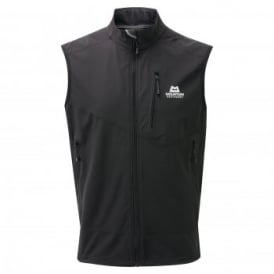 Mens Frontier Softshell Vest Black
