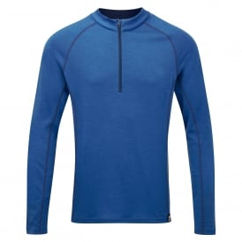 Mens Matrix 190 Zip T-Shirt Light Ocean