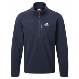 Mens Micro Zip Fleece Top Cosmos