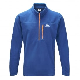 Mens Micro Zip Fleece Top Dark Ocean