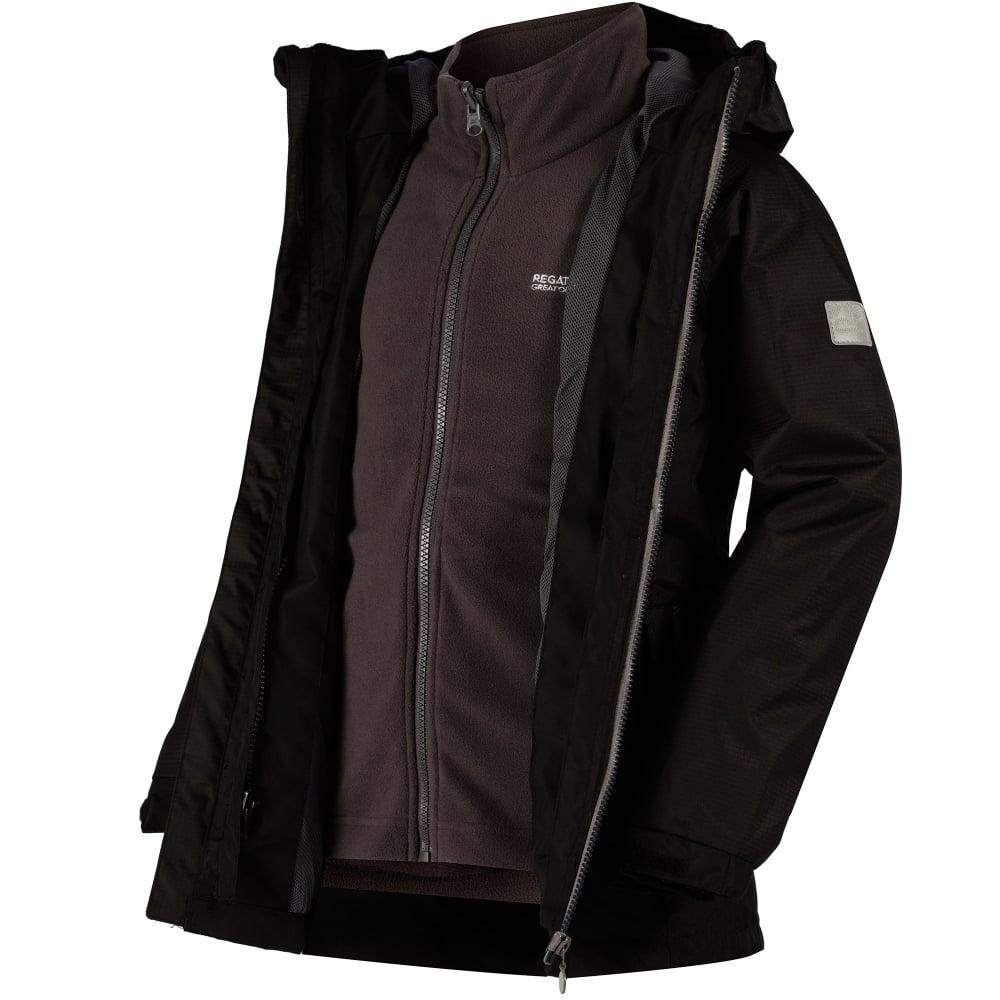 9b36e96f0e81 Regatta Boys Luca IV 3-1 Jacket Black - Kids from Great Outdoors UK