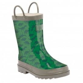 Boys Minnow Junior Wellington Boot Highland Green