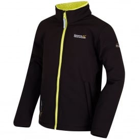 Boys Tato IV Softshell Jacket Black/Lime