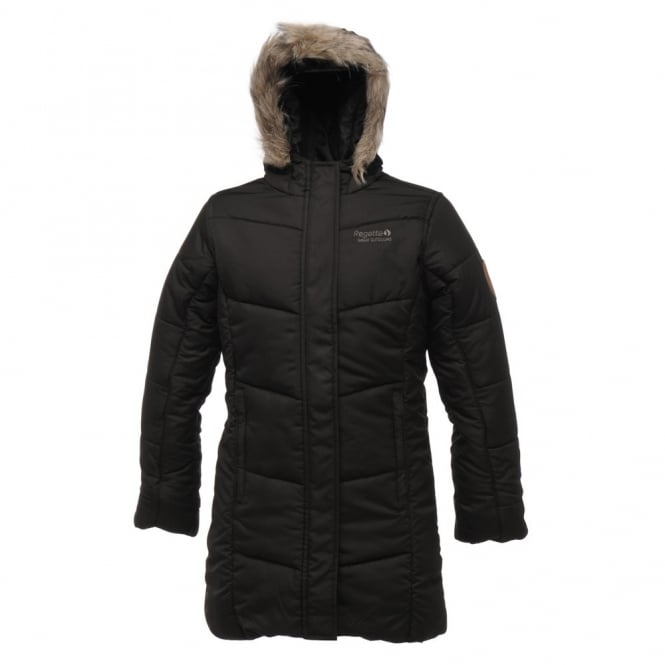 aee6afcaf Regatta Girls Black Blissful Quilted Coat - Great Outdoors Superstore