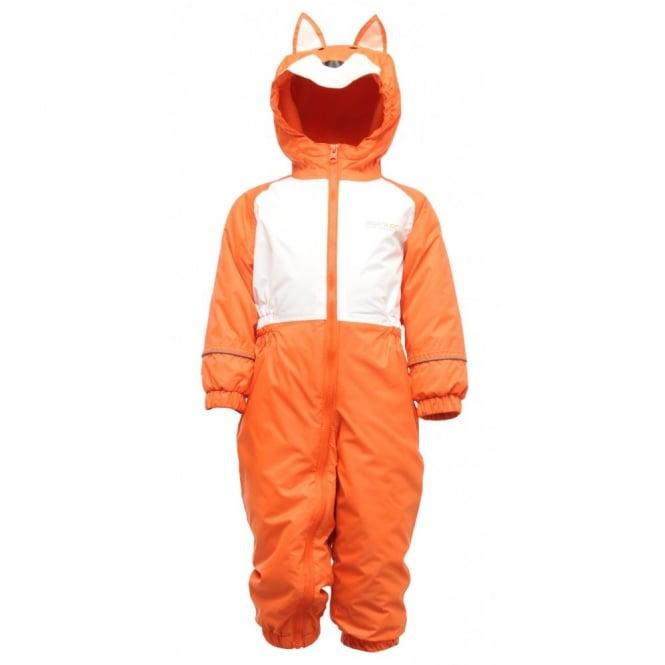 7435b4a845c8 Regatta Kids Mudplay Suit Koi Orange White Fox