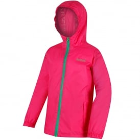 Kids Pack It III Jacket Hot Pink