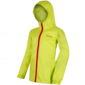 Kids Pack It III Jacket Lime