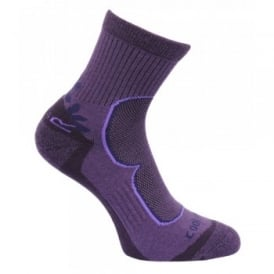 Ladies 2 Pair Active Lifestyle Sock Blackberry