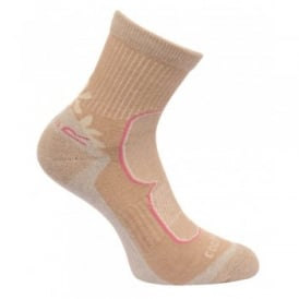 Ladies 2 Pair Active Lifestyle Sock Toffee