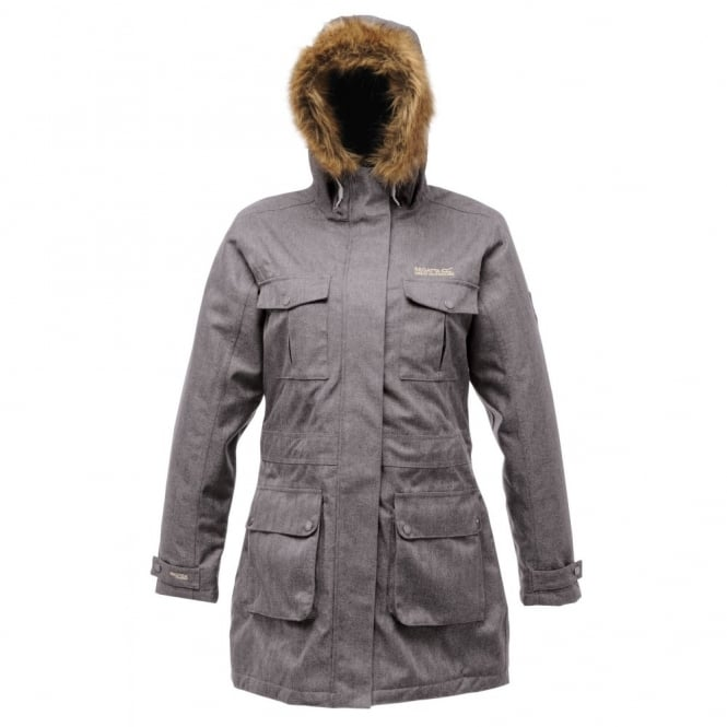 Regatta Ladies Bruna Parka Pearl Grey - Ladies from Great Outdoors UK