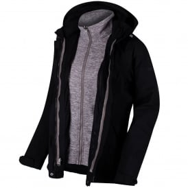 Ladies Calyn Stretch 3-1 Jacket Black
