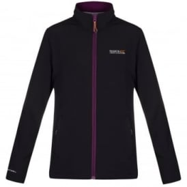 Ladies Connie III Softshell Jacket Black/Blackcurrant
