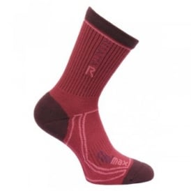 Ladies Coolmax Trek and Trail Sock Burgundy