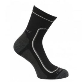 Mens 2 Pair Active Lifestyle Sock Black