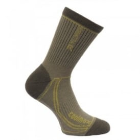 Mens 2 Season Coolmax Trek & Trail Sock Dusty Olive/Dark Spring