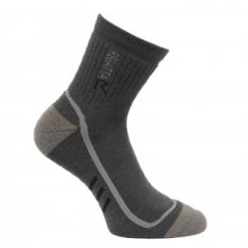 Mens 3 Season Heavywweight Trek&Trail Sock- Iron