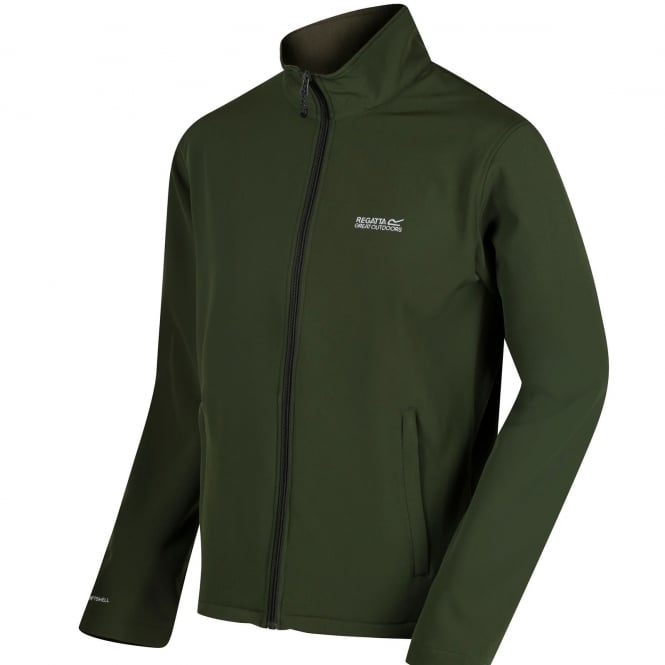Regatta Mens Cera III Softshell Jacket Racing Green/Ivy Green