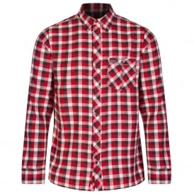 Mens Lazka Shirt Senator Red