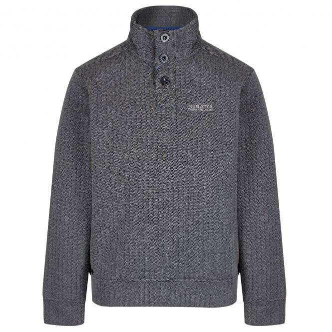 Regatta Men/'s Lucan Herringbone Effect Fleece Grey