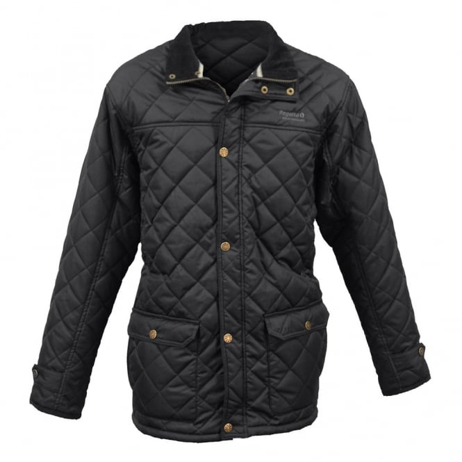 Regatta Mens Black Rigby Quilted Jacket - Great Outdoors Superstore