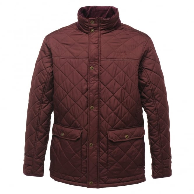 b8ac6b954a0 Regatta Mens Burgundy Rigby Quilted Jacket - Great Outdoors Superstore