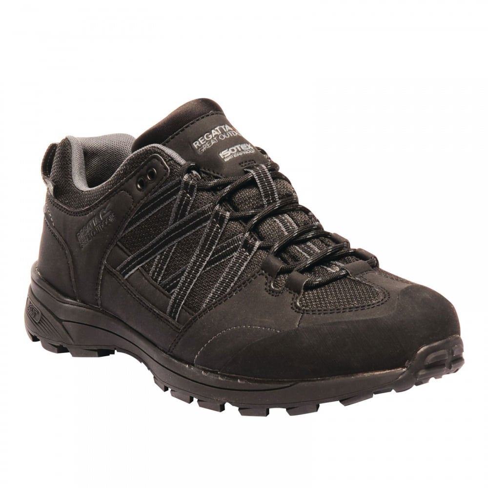 b740160cf2f85c Regatta Mens Samaris II Low Shoe Black - Footwear from Great Outdoors UK