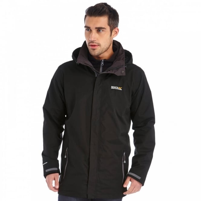Regatta Mens Telmar 3 in 1 Jacket Black