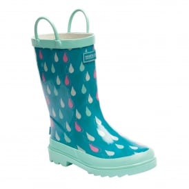 Minnow Junior Wellington Boot Aqua