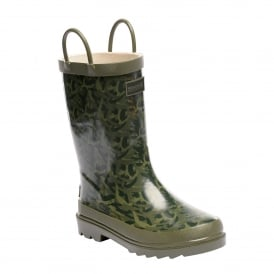Minnow Junior Wellington Boot Fauna