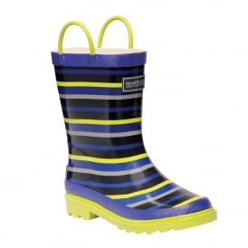 Minnow Junior Wellington Boot Surf/Lime
