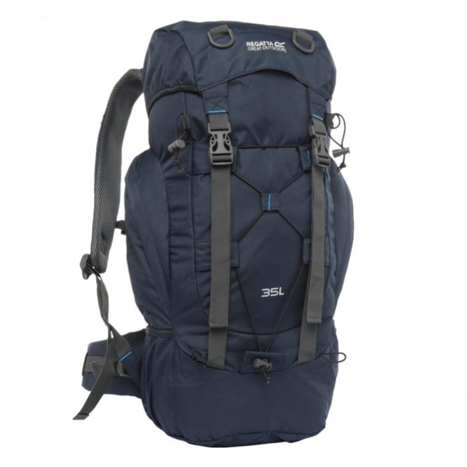 regatta survivor ii 35 litre rucksack navy backpacks from great outdoors uk. Black Bedroom Furniture Sets. Home Design Ideas