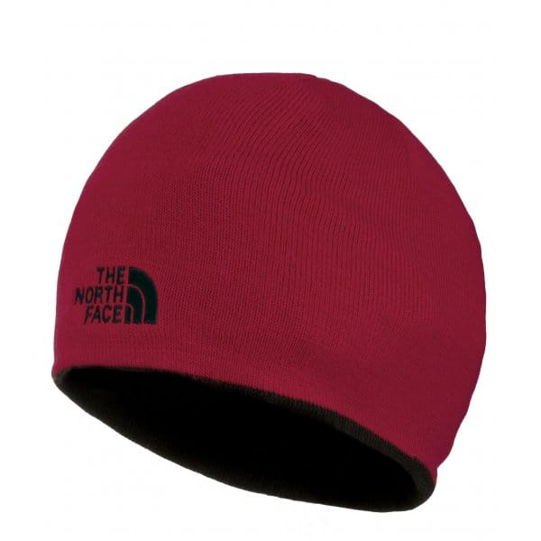 e6b596c5224 The North Face Reversible TNF Banner Beanie Hat Black Rage Red
