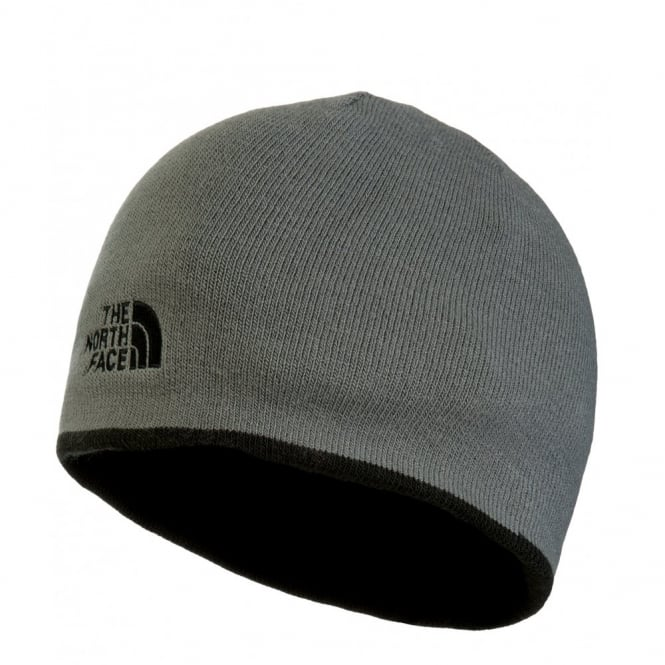 The North Face Reversible TNF Banner Beanie Hat Black Vanadis Grey d72aa9d2dbb