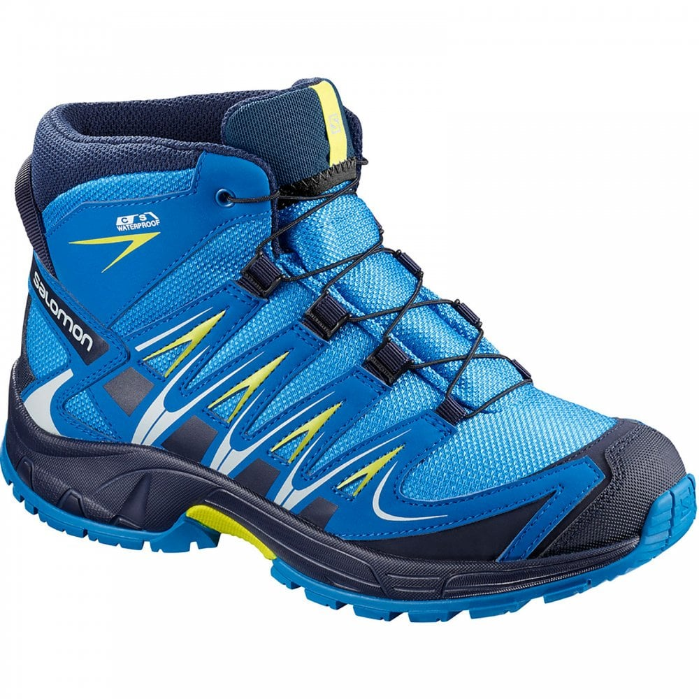 Salomon Kids XA Pro 3D Mid Shoe Indigo - Footwear from Great Outdoors UK f64b106a51ab