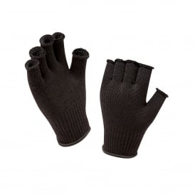 Mens Fingerless Merino Glove Black