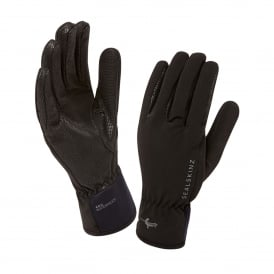 Mens Sea Leopard Glove Black