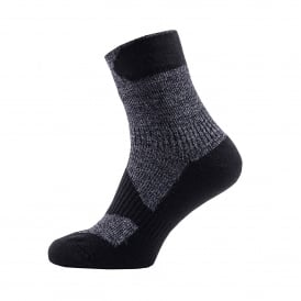 Mens Walking Thin Ankle Sock Dark Grey