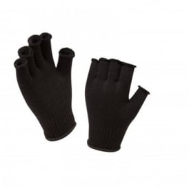 Unisex Fingerless Thermal Gloves Black
