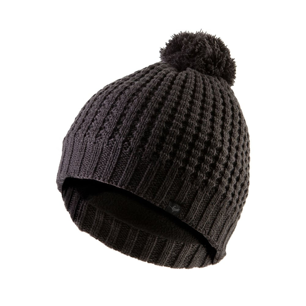 f00c12f0c02 Sealskinz Waffle Knit Bobble Hat Grey - Mens from Great Outdoors UK