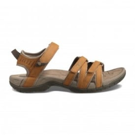 Ladies Tirra Leather Sandal Rust