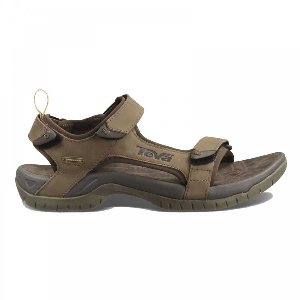 8a197997ba8c Teva Mens Tanza Leather Sandal Brown