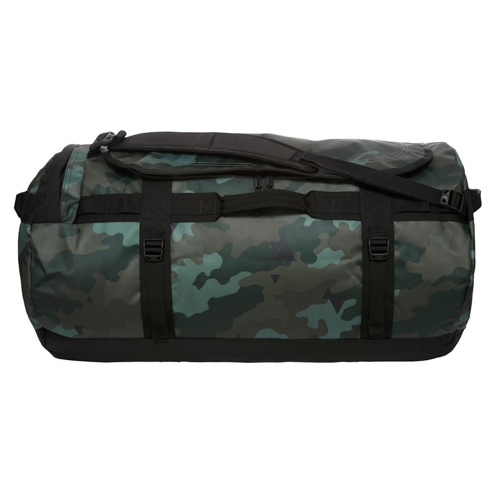 The North Face Base Camp Duffel Large Camo Print TNF Black ... 283174b0d5d46