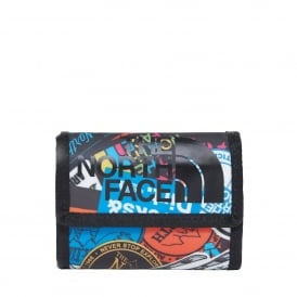 Base Camp Wallet TNF Red Sticker Bomb Print