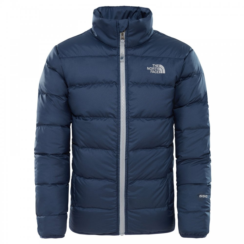 f191c104c The North Face Boys Andes Jacket Cosmic Blue Mid Grey - Kids from ...