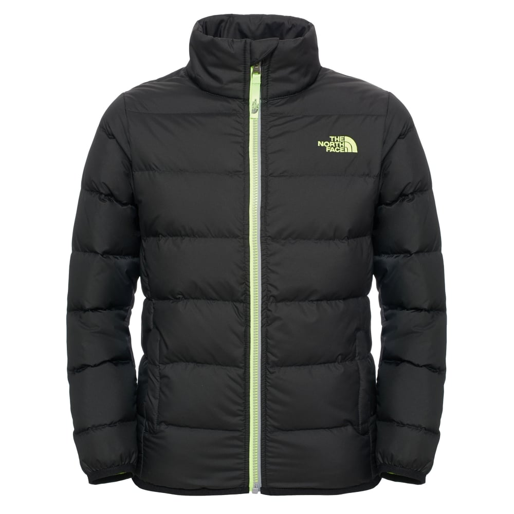 410e6a441 Boys Andes Jacket TNF Black/Safety Green