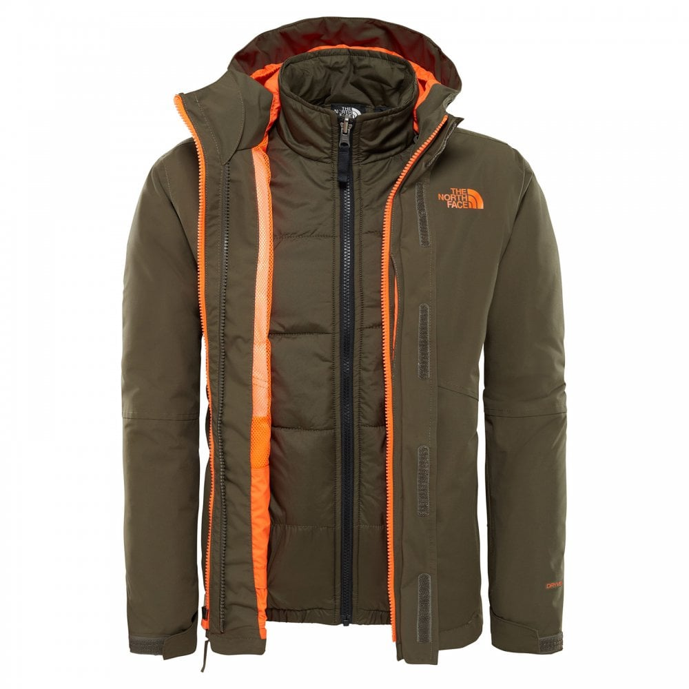de35d66592eb The North Face Boys Boundary Triclimate Jacket New Taupe Green ...
