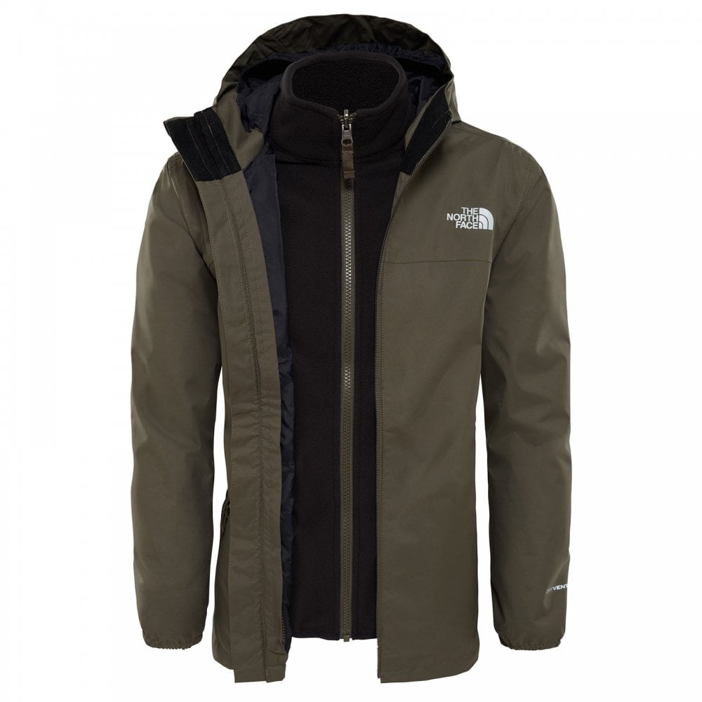 a22f3404f Boys Elden Triclimate Jacket New Taupe Green